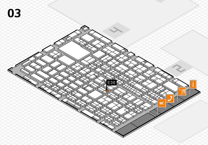 MEDICA 2016 hall map (Hall 3): stand E36