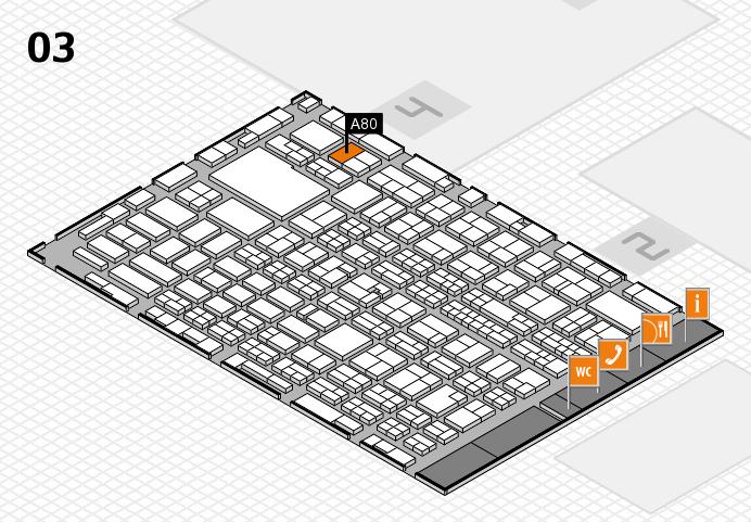 MEDICA 2016 hall map (Hall 3): stand A80