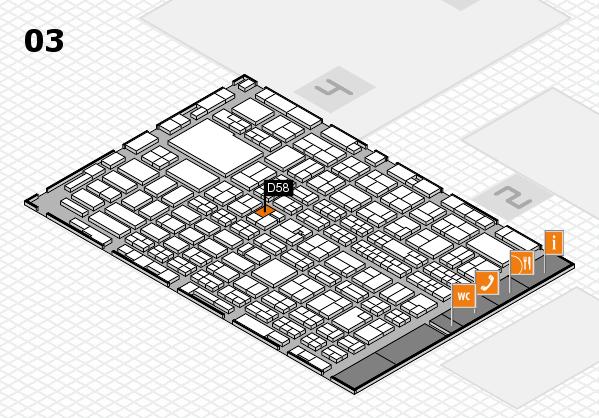 MEDICA 2016 hall map (Hall 3): stand D58