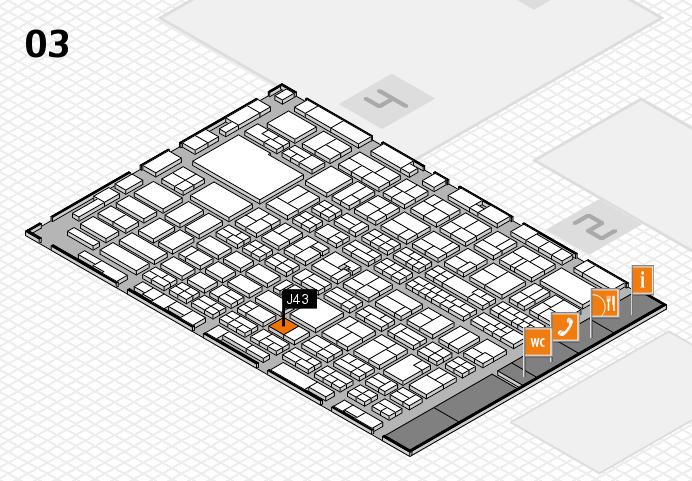 MEDICA 2016 hall map (Hall 3): stand J43