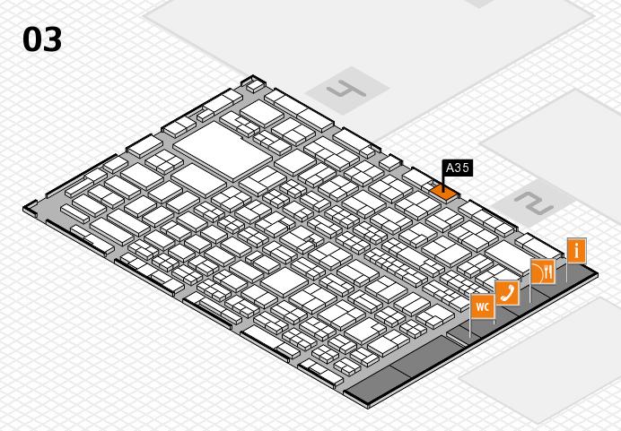 MEDICA 2016 hall map (Hall 3): stand A35