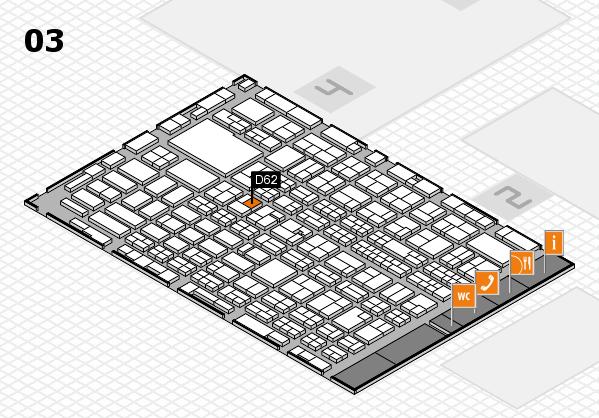 MEDICA 2016 hall map (Hall 3): stand D62