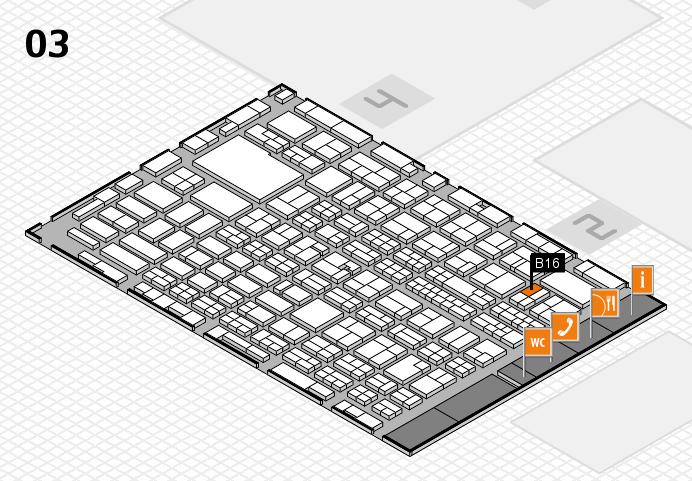 MEDICA 2016 hall map (Hall 3): stand B16