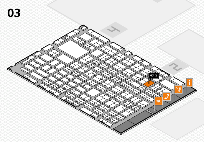 MEDICA 2016 hall map (Hall 3): stand B20