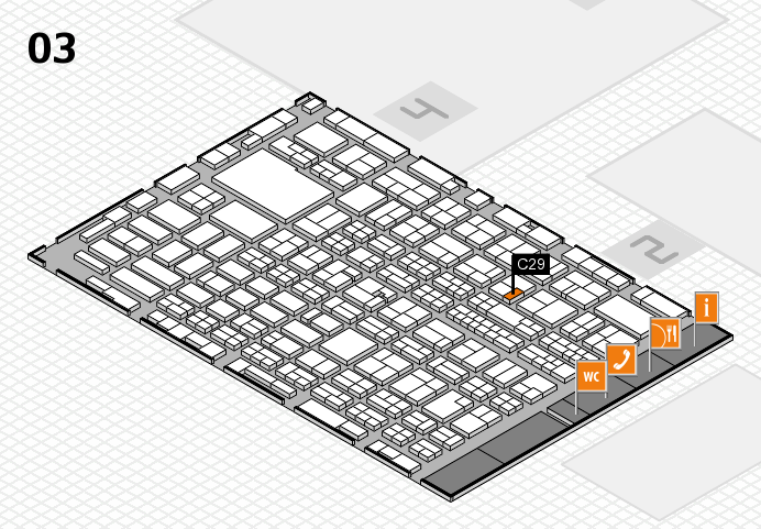 MEDICA 2016 hall map (Hall 3): stand C29