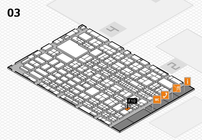 MEDICA 2016 hall map (Hall 3): stand F10