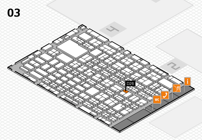 MEDICA 2016 hall map (Hall 3): stand D26