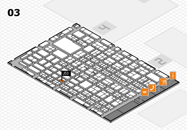 MEDICA 2016 hall map (Hall 3): stand J53