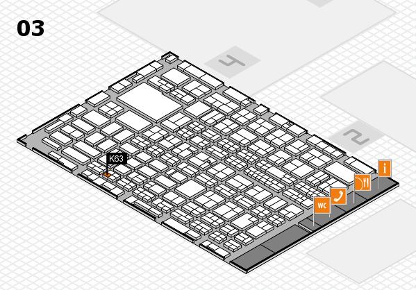 MEDICA 2016 hall map (Hall 3): stand K63
