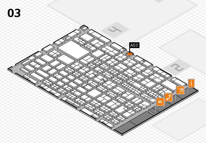 MEDICA 2016 hall map (Hall 3): stand A53