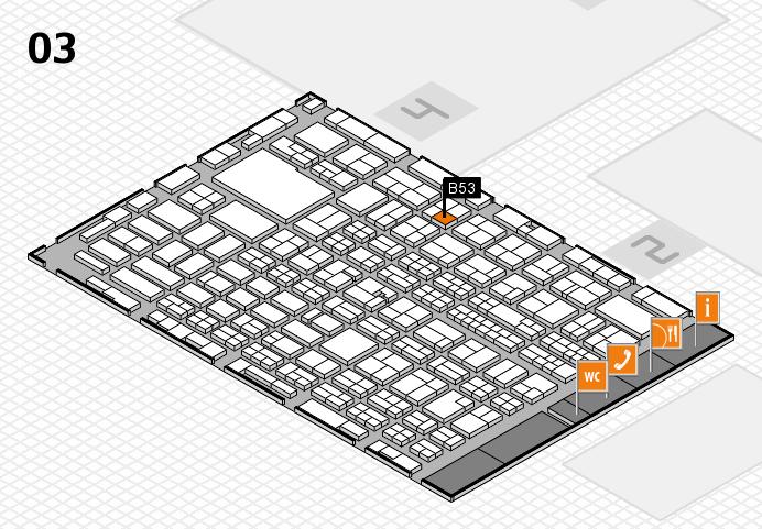 MEDICA 2016 hall map (Hall 3): stand B53