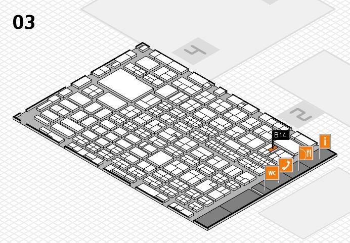 MEDICA 2016 hall map (Hall 3): stand B14