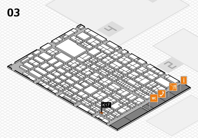 MEDICA 2016 hall map (Hall 3): stand K17