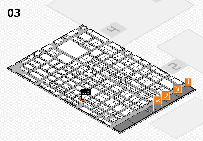MEDICA 2016 hall map (Hall 3): stand J36