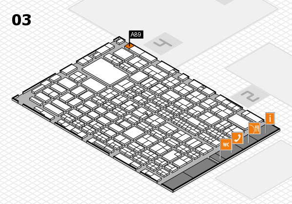 MEDICA 2016 hall map (Hall 3): stand A89
