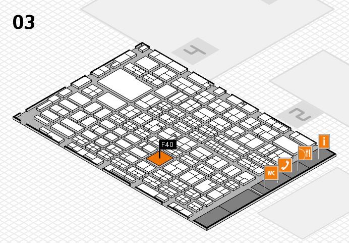 MEDICA 2016 hall map (Hall 3): stand F40