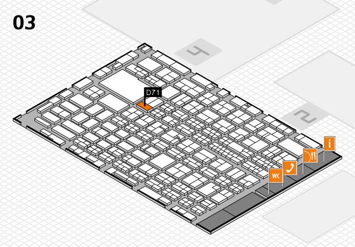 MEDICA 2016 hall map (Hall 3): stand D71