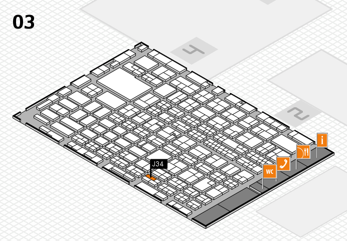 MEDICA 2016 hall map (Hall 3): stand J34
