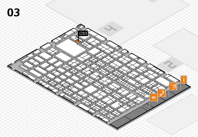 MEDICA 2016 hall map (Hall 3): stand C83