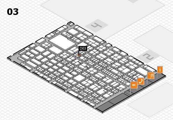 MEDICA 2016 hall map (Hall 3): stand D63