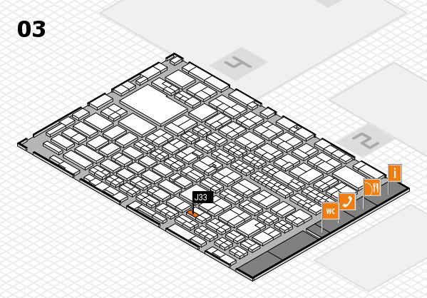 MEDICA 2016 hall map (Hall 3): stand J33