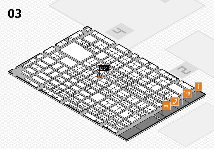 MEDICA 2016 hall map (Hall 3): stand D54