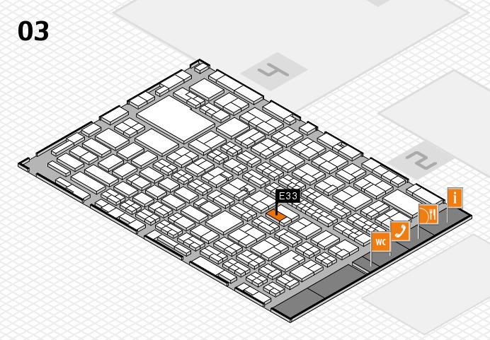MEDICA 2016 hall map (Hall 3): stand E33