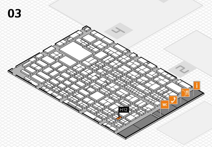MEDICA 2016 hall map (Hall 3): stand H12