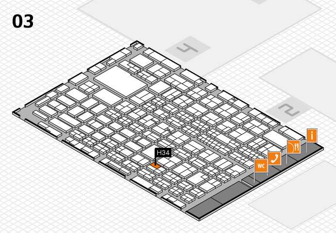 MEDICA 2016 hall map (Hall 3): stand H34