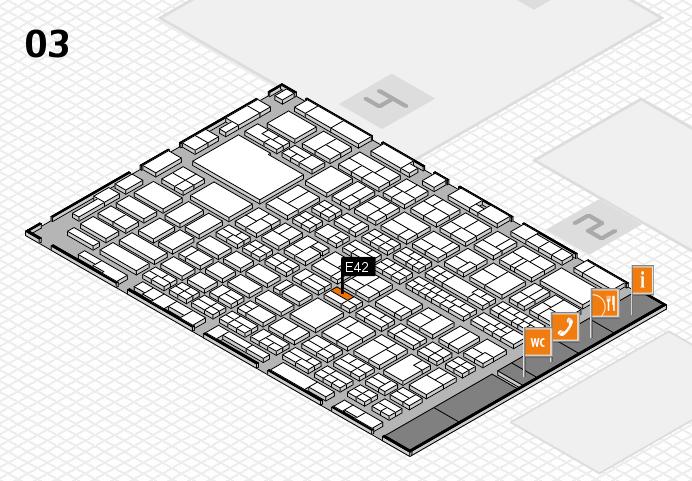 MEDICA 2016 hall map (Hall 3): stand E42