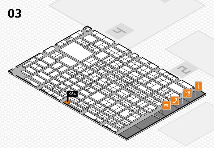 MEDICA 2016 hall map (Hall 3): stand K54