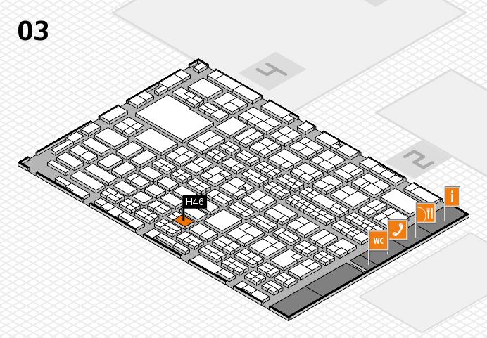 MEDICA 2016 hall map (Hall 3): stand H46