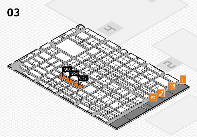 MEDICA 2016 hall map (Hall 3): stand G52, stand G60