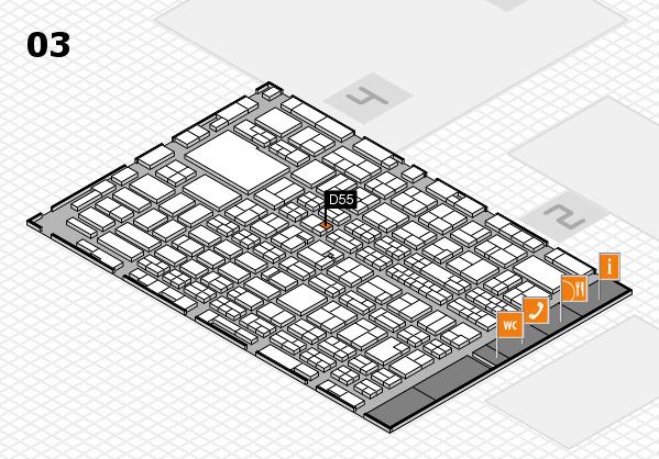 MEDICA 2016 hall map (Hall 3): stand D55