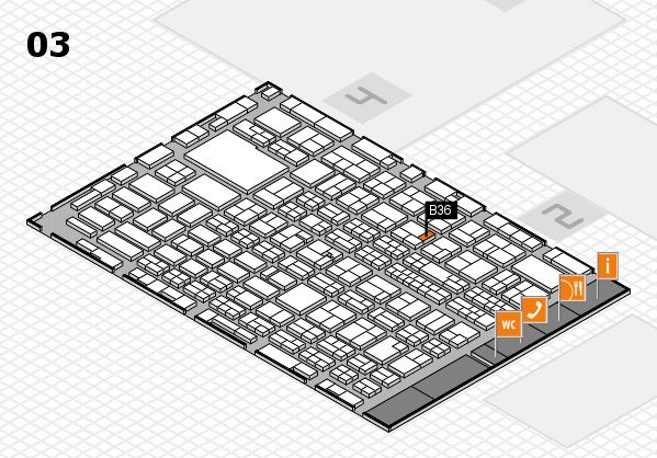 MEDICA 2016 hall map (Hall 3): stand B36