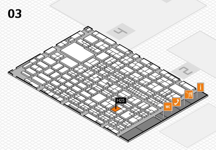 MEDICA 2016 hall map (Hall 3): stand H25