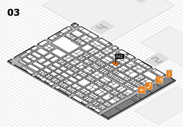 MEDICA 2016 hall map (Hall 3): stand B42