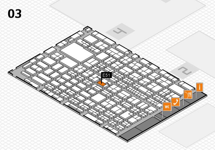 MEDICA 2016 hall map (Hall 3): stand E51