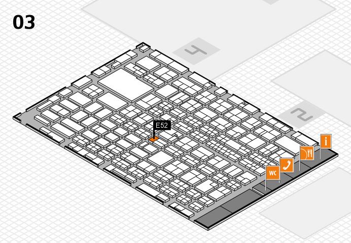 MEDICA 2016 hall map (Hall 3): stand E52