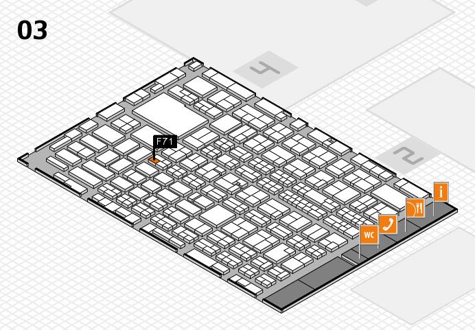 MEDICA 2016 hall map (Hall 3): stand F71