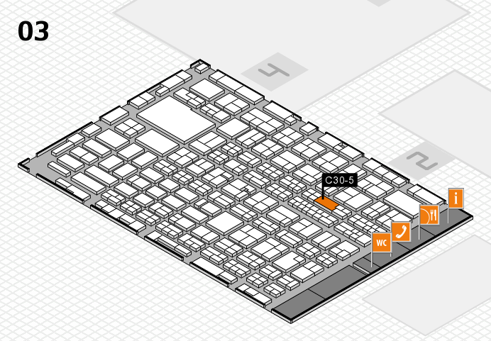 MEDICA 2016 hall map (Hall 3): stand C30-5