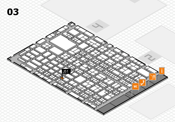 MEDICA 2016 hall map (Hall 3): stand J51
