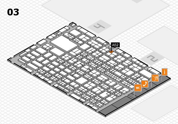 MEDICA 2016 hall map (Hall 3): stand A52