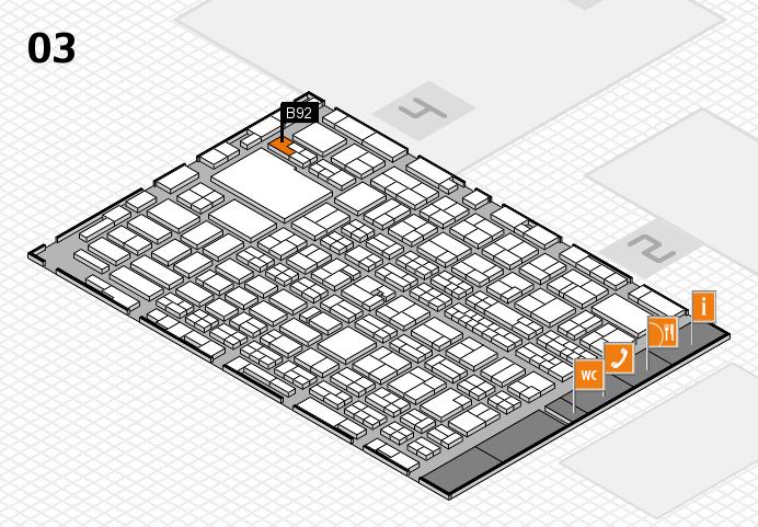 MEDICA 2016 hall map (Hall 3): stand B92