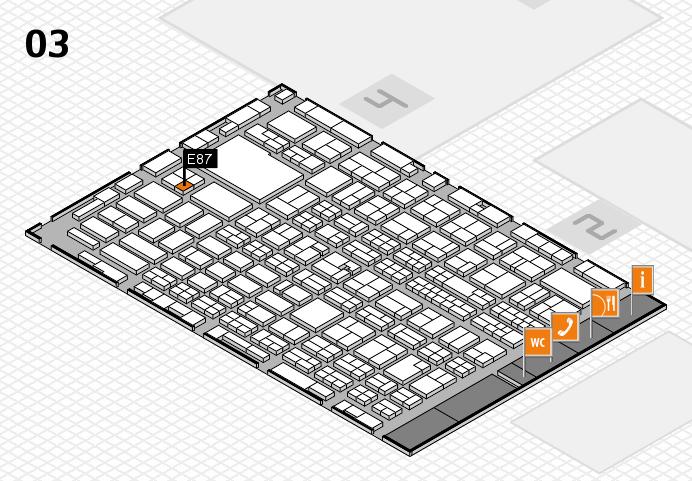 MEDICA 2016 hall map (Hall 3): stand E87