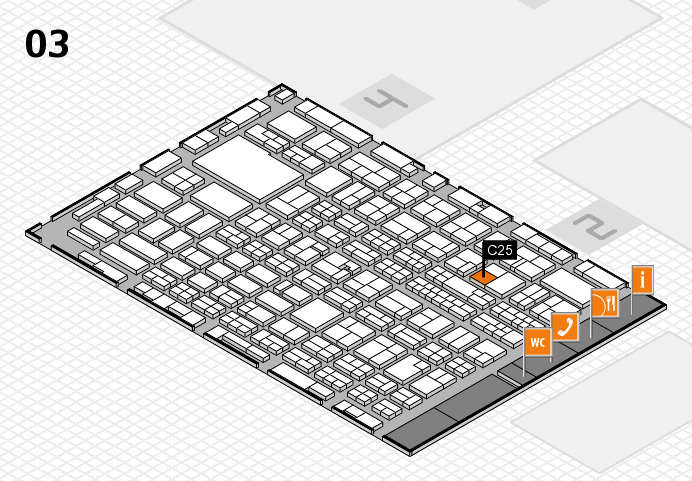 MEDICA 2016 hall map (Hall 3): stand C25