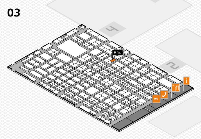 MEDICA 2016 hall map (Hall 3): stand B54