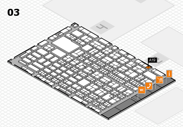 MEDICA 2016 hall map (Hall 3): stand A19