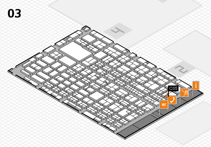 MEDICA 2016 hall map (Hall 3): stand C05