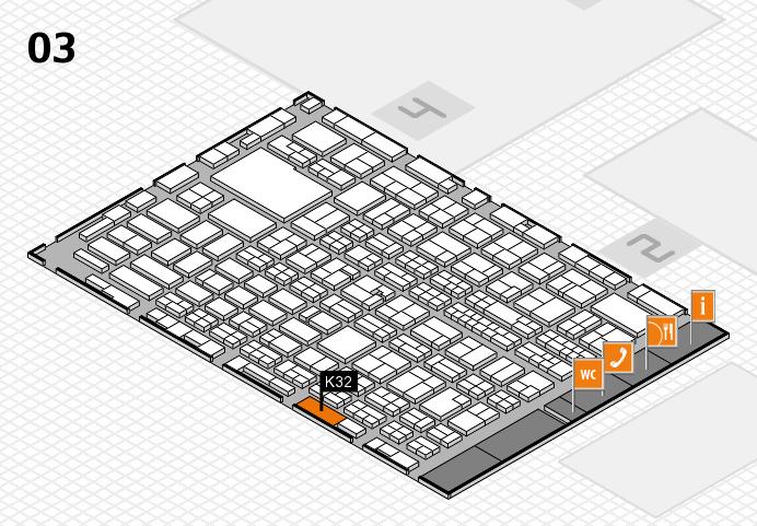 MEDICA 2016 hall map (Hall 3): stand K32